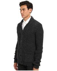 Pierre Balmain Virgin and Alpaca Wool Cardigan Sweater - Lyst