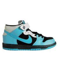 Nike Sb Dunk Mid Pro Black/Aqua Fuel Blue blue - Lyst