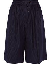 Sonia Rykiel - Pinstriped Wool Shorts - Lyst