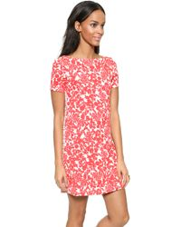 Tory Burch Elisabeth Dress - Red Pepper Issy Stripe - Lyst