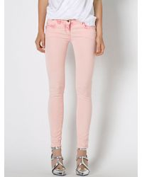 Patrizia Pepe Mottled Skinny Jeans With 5 Pockets - Lyst