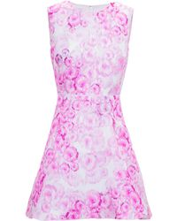 Giambattista Valli Floral-Print Silk Mini Dress - Lyst