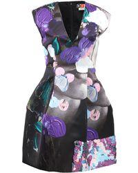 MSGM Printed Techno Duchesse Dress - Lyst
