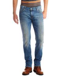 Boss Orange Orange 63 Tear  Slim Fit 10 Oz Stretch Cotton Jeans - Lyst