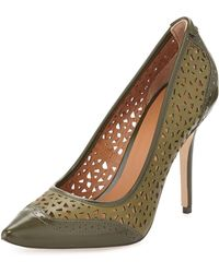 Rachel Roy Amma Twotone Perforated Leather Pumps - Lyst