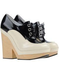 Jil Sander Lace-Up Shoes beige - Lyst