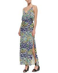 Milly Multi-Leopard-Print Maxi Dress - Lyst