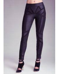 Bebe Kelly Leather Skinny Pants - Lyst