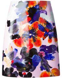 MSGM Flower Print Skirt - Lyst