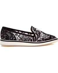 Nicholas Kirkwood Black Embroidery Micro Sole Loafer - Lyst
