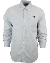 Cutter & Buck Men'S St. Louis Rams Tattersall Dress Shirt - Lyst