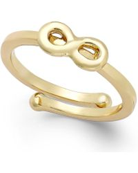 Kate Spade New York Infinity Adjustable Ring - Lyst