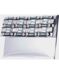 Marni Mirrored Calfskin Silver Pochette silver - Lyst