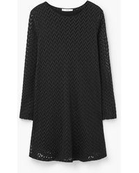 Mango | Zigzag Textured Dress | Lyst
