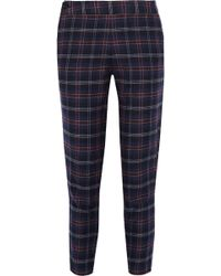 Thakoon - Addition Plaid Cotton-blend Flannel Tapered Pants - Lyst
