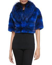 Michael Kors Minkfox Fur Cropped Jacket - Lyst