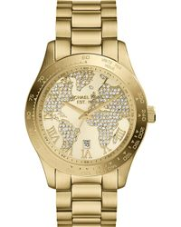 Michael Kors Layton Goldtoned Stainless Steel Watch Light Champagne - Lyst