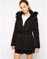 Oasis Long Quilted Jacket - Lyst