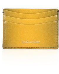 Hook + Albert Gradient Leather Card Case yellow - Lyst