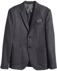 H&M Gray Wool Jacket - Lyst