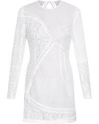 Zimmermann Anais Macramé-Lace Mini Dress - Lyst