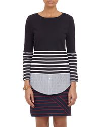 Band Of Outsiders Combo Breton Stripe Top - Lyst