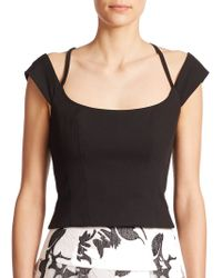 Nanette Lepore Too Taboo Top black - Lyst