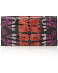 Alexander Wang Prisma Skeletal Long Compact In Tie Dye Bubba And Flame - Lyst