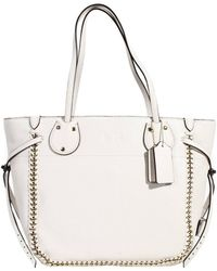 Coach Handbag Bag Tatum Tote Shopping Leather With Chain - Lyst