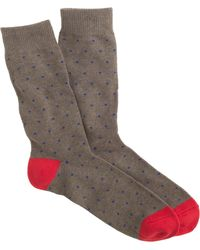 J.Crew Bird'S-Eye Print Socks - Lyst