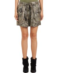 Isabel Marant Lurex Floral Padu Shorts - Lyst