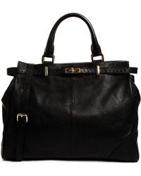 Ri2k - Walcott Leather Black Handbag - Lyst
