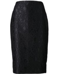 Adam Lippes Lace Skirt - Lyst