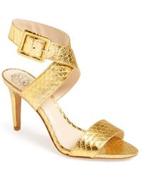 Vince Camuto Women'S 'Casara' Snake Embossed Leather Sandal - Lyst