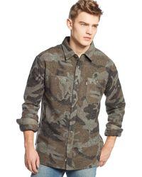 Levi's Alfie Jacquard Tweed Shirt Jacket - Lyst