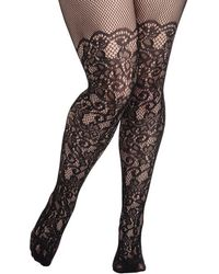 Leg Avenue - Intricately Exquisite Tights In Plus Size - Lyst