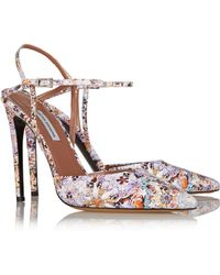 Tabitha Simmons Valentina Floral-print Leather Pumps - Lyst