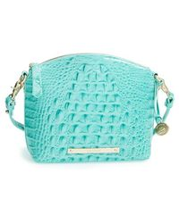 Brahmin 'Mini Duxbury' Croc Embossed Leather Crossbody Bag - Lyst