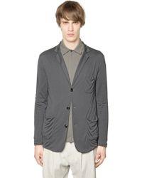 Giorgio Armani Viscose & Cashmere Jersey Jacket - Lyst