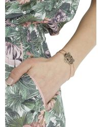 KENZO - Rose Gold Plated Tiger Bracelet - Lyst