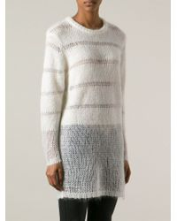 Avelon - Stripe Knit Jumper - Lyst
