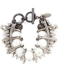 Venna - Marble Sphere Bead Chain Link Bracelet - Lyst