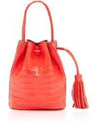 Nancy Gonzalez Coral Crocodile Bucket Bag - Lyst
