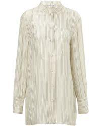 Jill Stuart Sand Midnight Silk Mae Shirt - Lyst