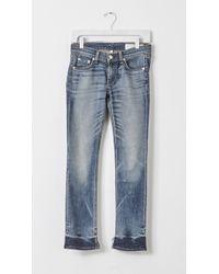 Rag & Bone Crop Jeans blue - Lyst