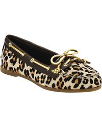Sperry Top-sider Audrey Leopard Boat Shoes - Lyst