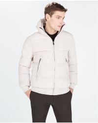 Zara Quilted Jacket - Lyst