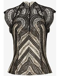 Lover - Venus French Lace Top - Lyst