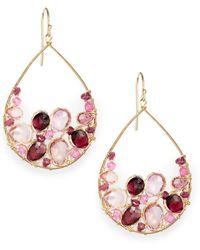 Nunu - Garnet & Pink Topaz Cluster Earrings - Lyst