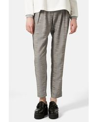 Topshop Check Tailored Jogger Pants - Lyst